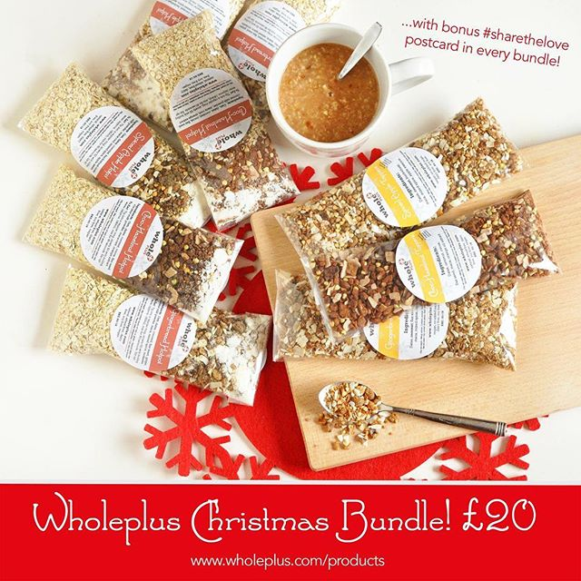 It's been a bit quiet over here but I'm back in time for Christmas! (things will re-launch properly next year!) FANCY SOME FESTIVE TOPPERS? I have had a few @wholeplus website orders over the last few days... so I decided to re-open the limited edition Christmas range for TWO WEEKS ONLY!  This will also include the option of the 'Stollen Spice' blend recently showcased at @bambooturtle.  Various flavour combos and sizes available... all for £20 +p&p  Place your order below! You also get a special complimentary @sharetheloveletters card with every order too 💛 ➤➤➤ http://wholeplus.com/products/