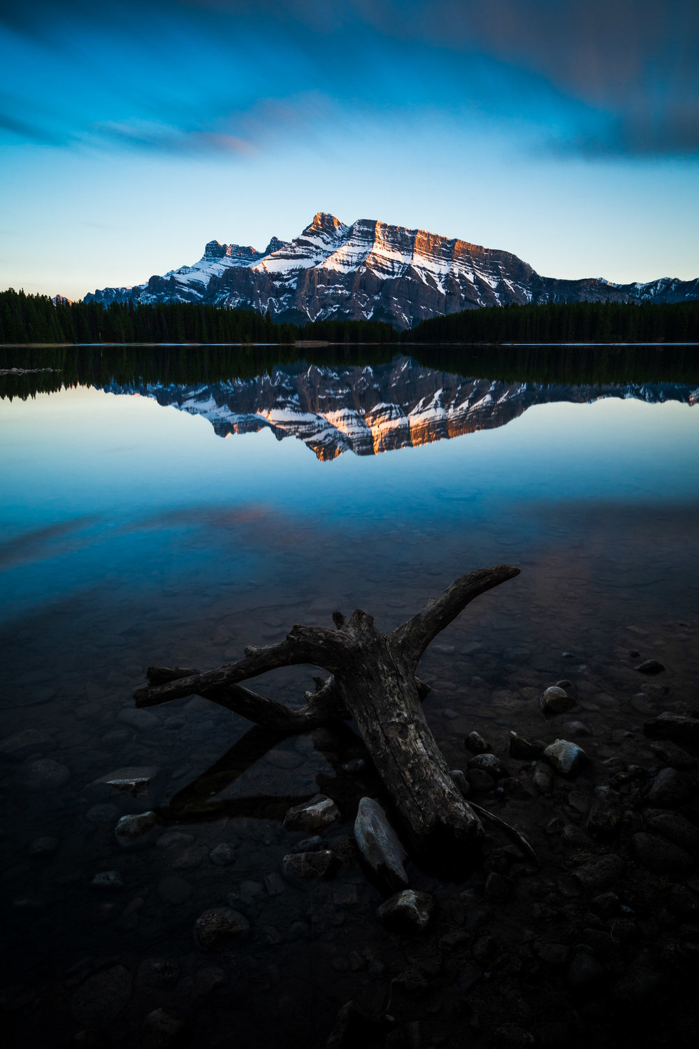 Mount Rundle From Two Jack Lake, Banff