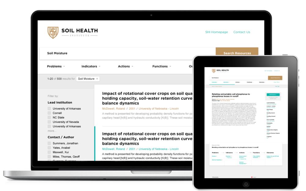 Improving soil research emily bahna for Soil health institute