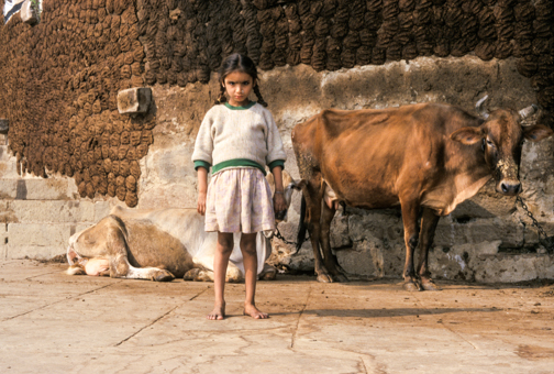 Girl, Varanasi, India. ©1997 Brad Hamilton