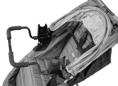Recalled adaptor installed on Baby Jogger Stroller