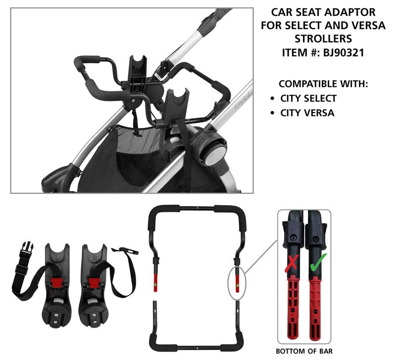 Car Seat Adaptor for Select and Versa Strollers