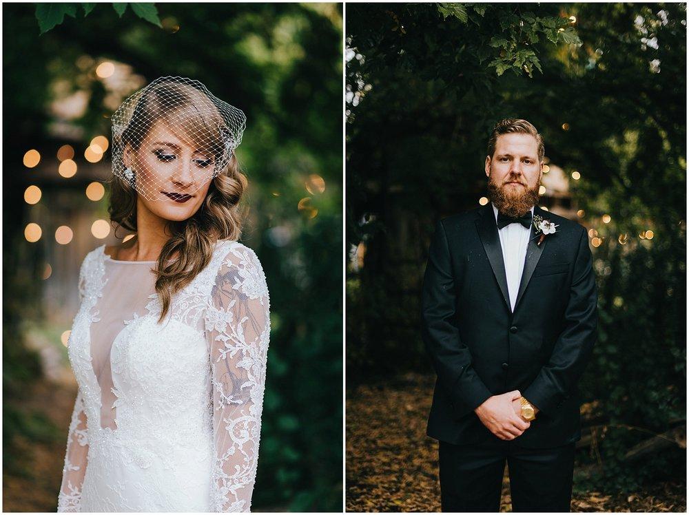 Alexa in her gorgeous Cotin Sposa wedding gown at her Kelly Urban Farm wedding in Boulder, Colorado.