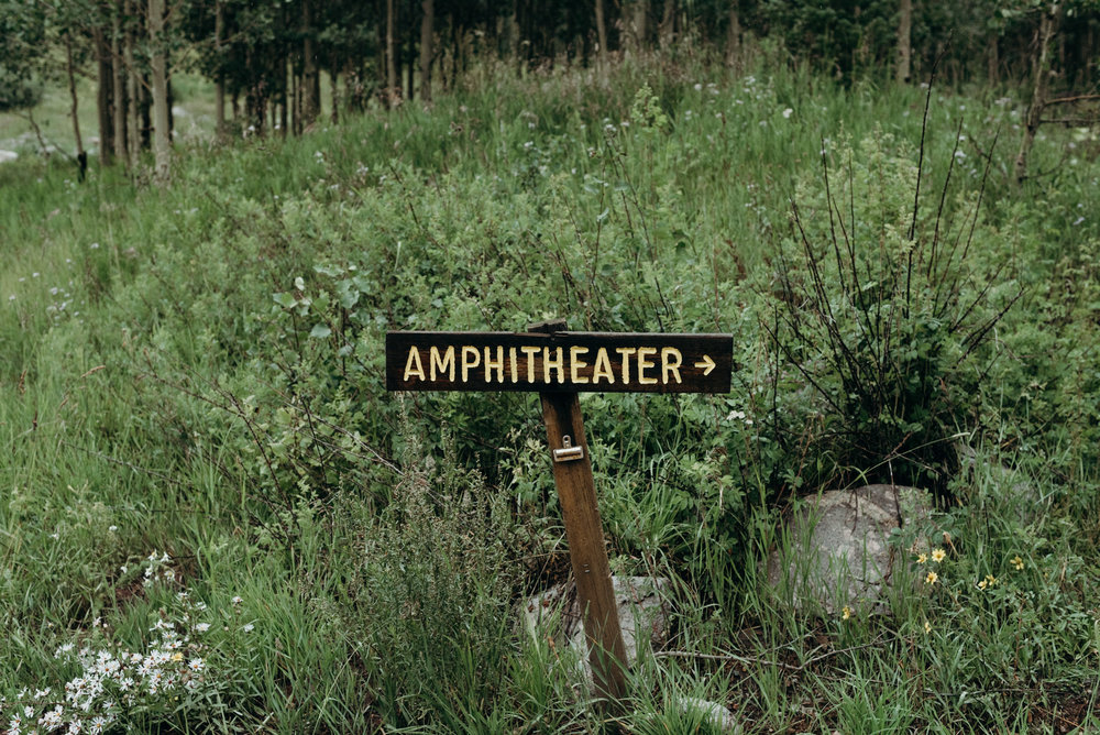 Maroon Bells Amphitheater sign.