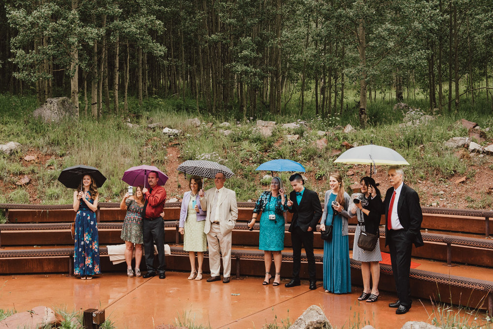 Heather and Darren's Wedding Guests at their Maroon Bells Wedding Ceremony.