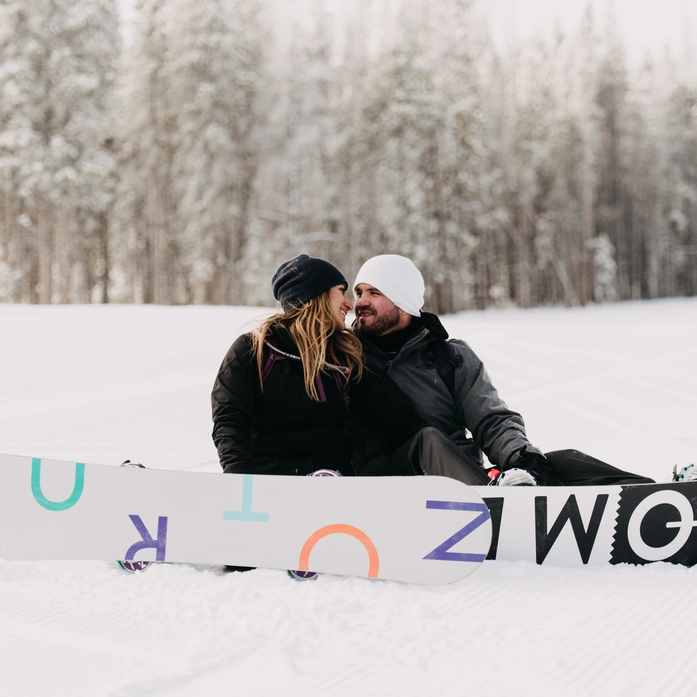 Breckenridge Snowboarding Engagement Session    Kat & Richard    View Post