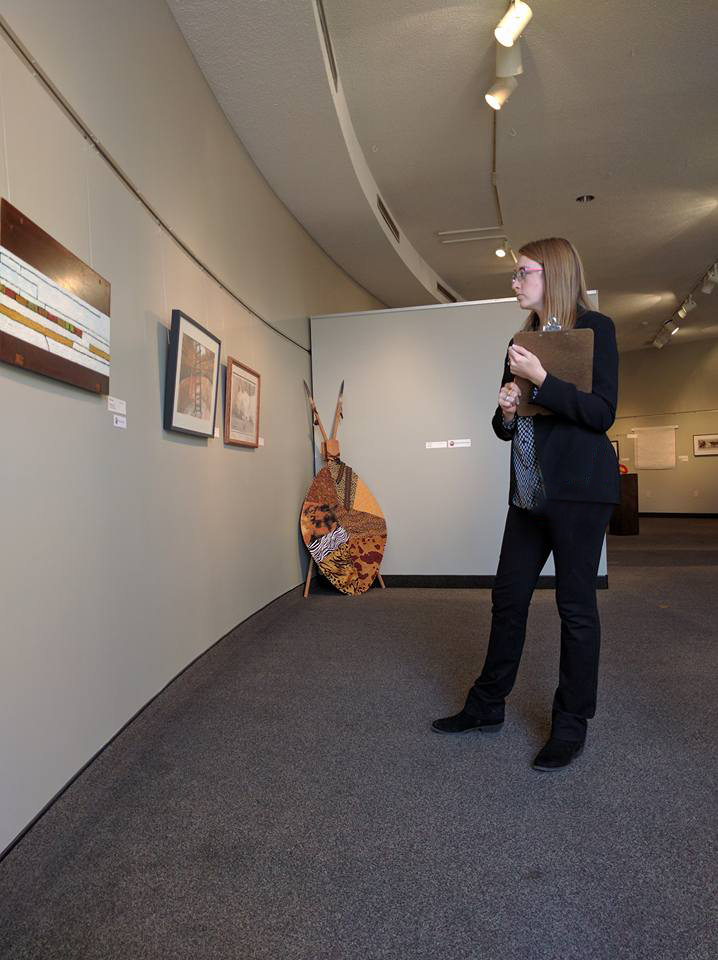 Jurying a regional exhibit at the  Charles H. MacNider Art Museum