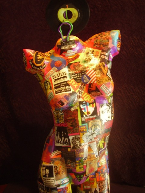 "Vibrations  Mixed Media Mannequin  18"" x 36""   $800.00  Available"