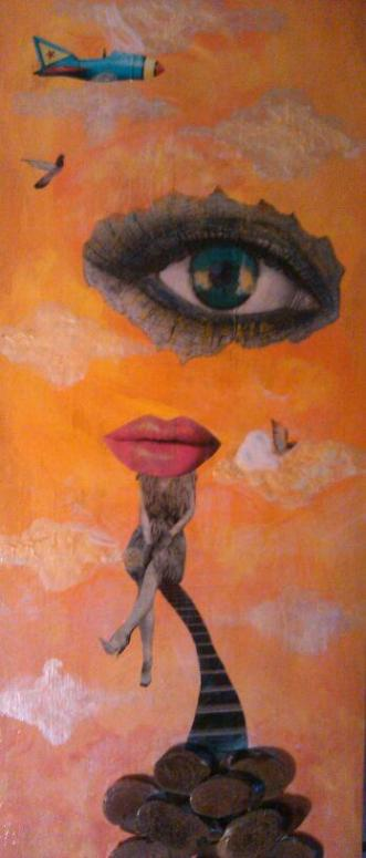 """Does My Independence Bother You?  Acrylic/Mixed Media  9.5"""" x23.5""""  $300.00  Available"""