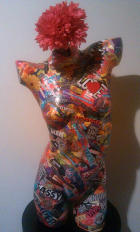 "Pulse    Mixed Media Mannequin  18"" x 36""   $800.00  Available"