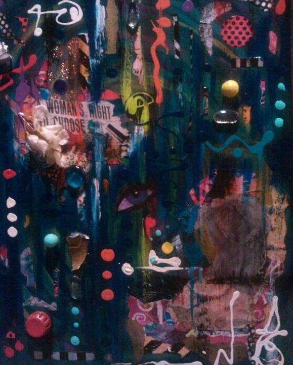 "Vedo Tutto   Acrylic/Mixed Media  16"" x 20""  $250.00  Available"