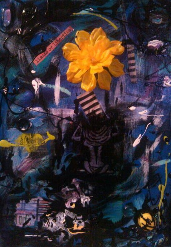 """Stories of Love   Acrylic/Mixed Media  16"""" x 20""""  $300.00  Available"""