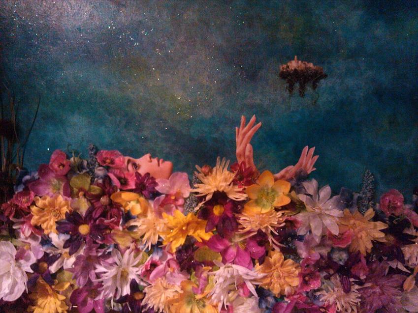 """Field of Peace   Acrylic/Mixed Media  24"""" x 30""""  $700.00  Available"""
