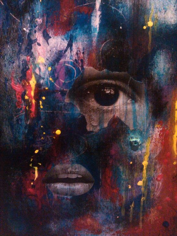 "Taste of the Spirit   Acrylic/Mixed Media  11"" x 14""  $200.00  Available"