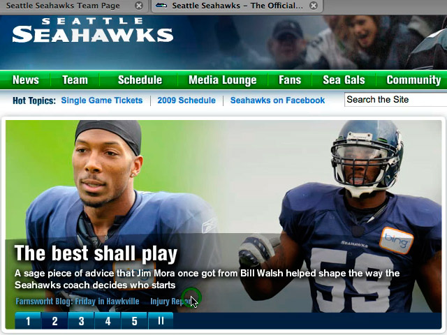 NFL Seattle Seahawks Media Player (0:24)