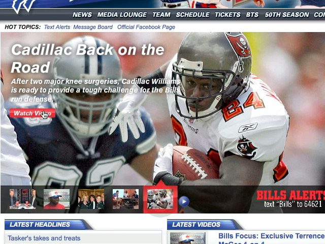 NFL Buffalo Bills Media Player (0:19)