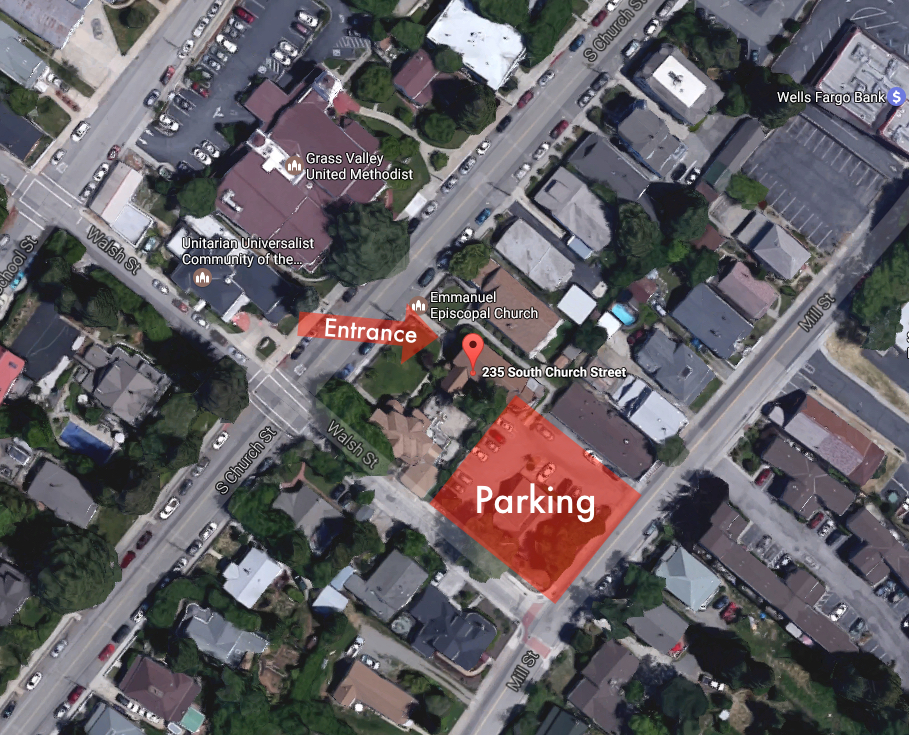 Parking and Church Location (click to enlarge)