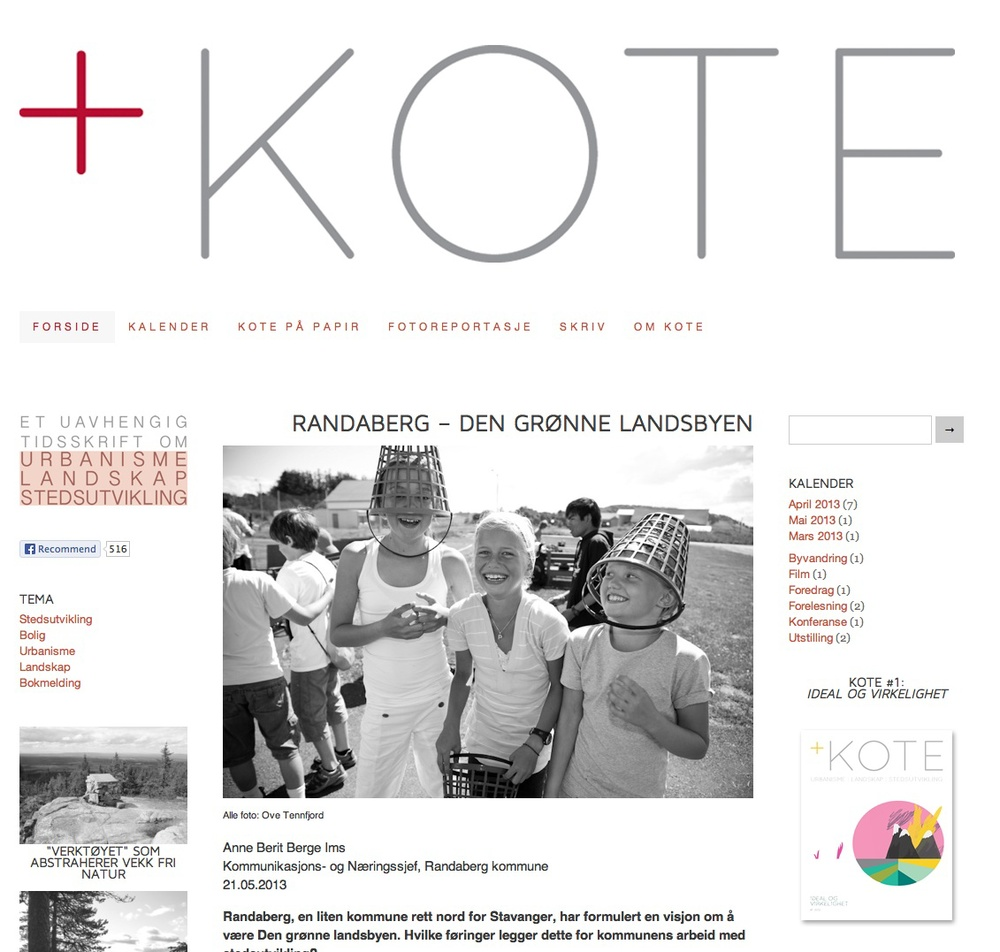 +KOTE - a magazine by norwegian architecture students