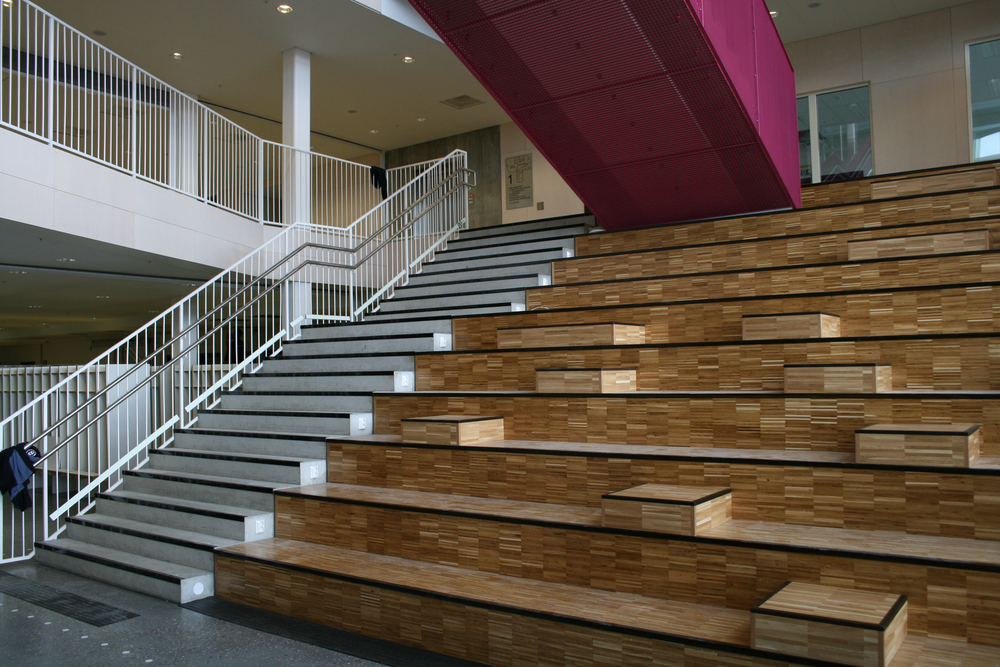 "Central space and the ""spanish stair"""