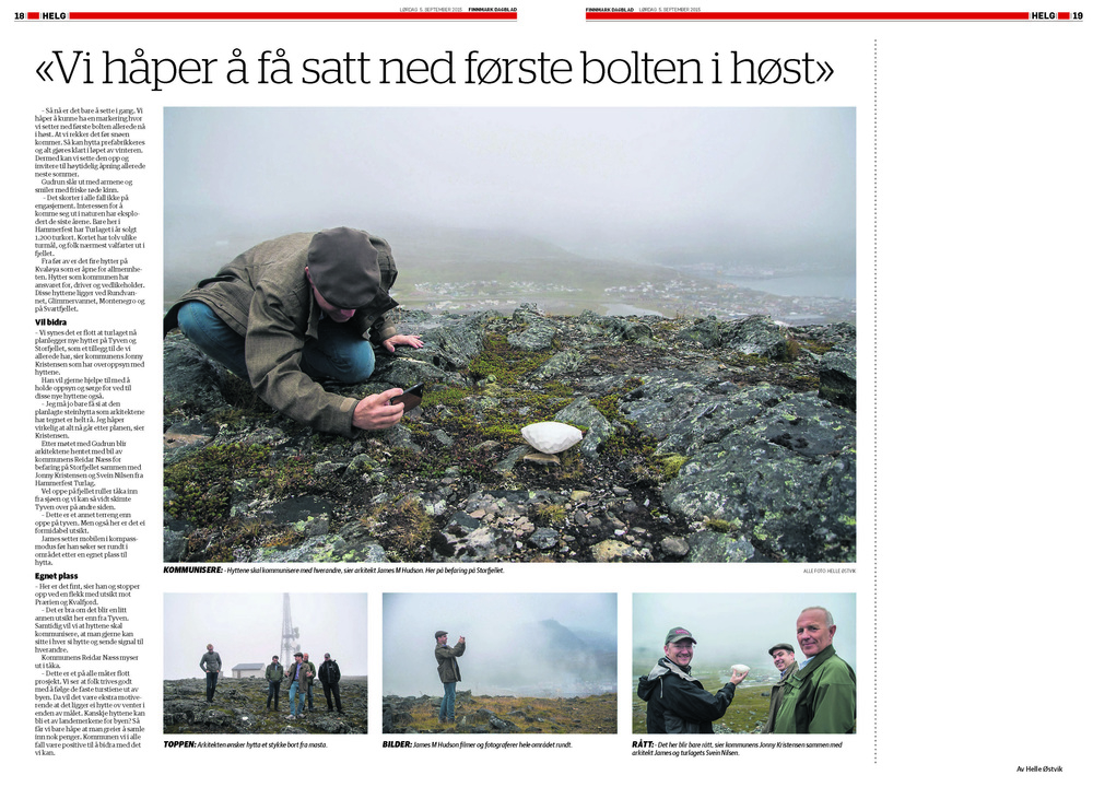 Feature article in Finnmark Dagblad by Helle Østvik.