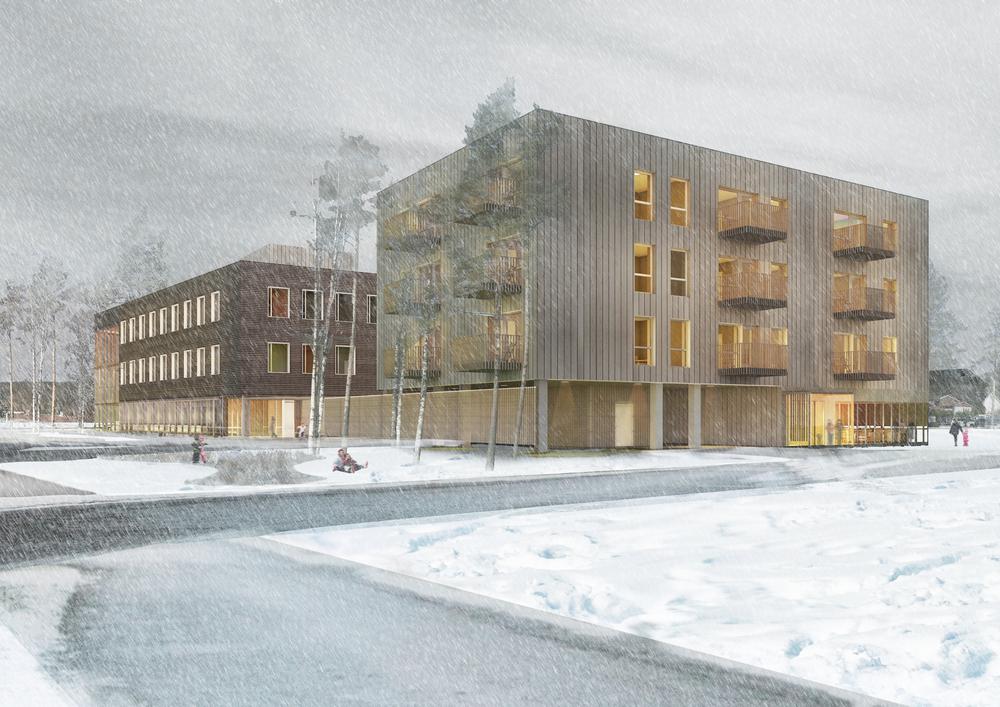Aurskog-Høland Helsehus - SPINN Arkitekter / Architectopia