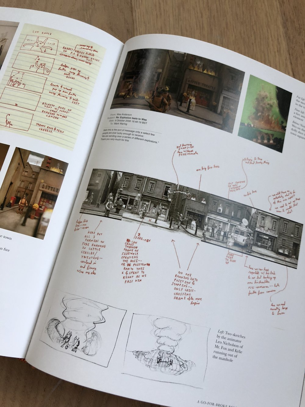 A spread from  The Making of Fantastic Mr. Fox