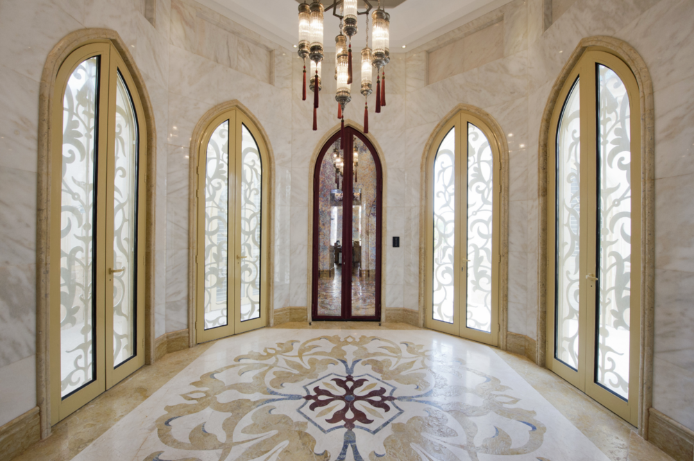 Choufani wrought iron work interior design furniture for Door design uae
