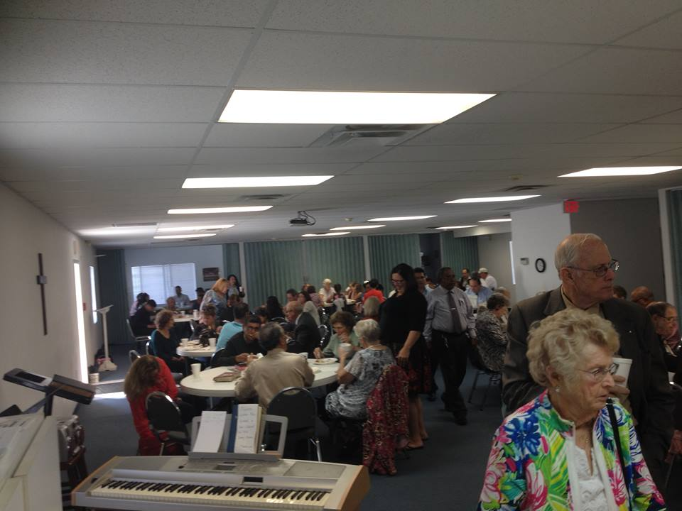 Sharing a meal with our church family