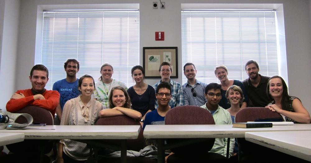 First BEESst meeting of the semester, September 2014.