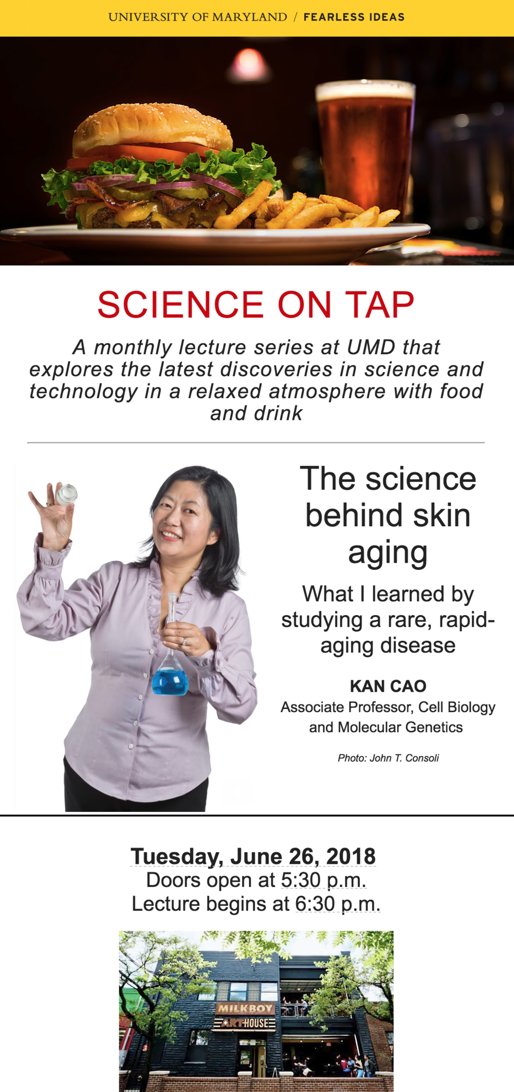 The Science on Skin Aging - Join us as associate professor Kan Cao, presents what she learned by studying a rare, rapid-aging disease.
