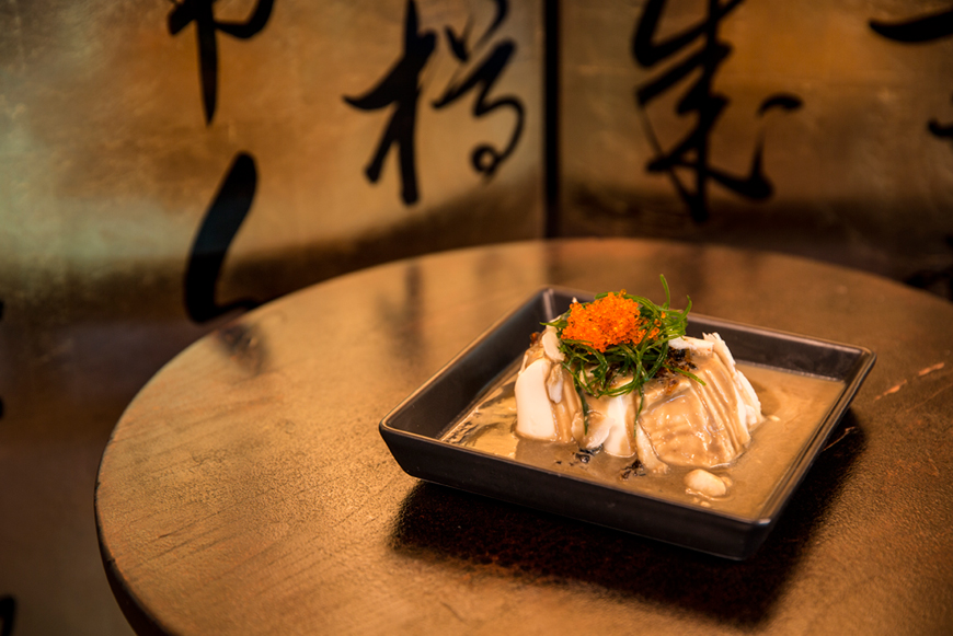 Chilled Tofu with Century Egg and Crab Meat