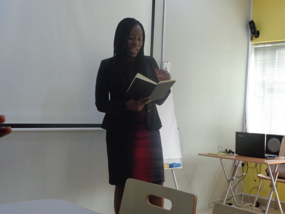 Titi Odunfa (MD, Sankore Investments) teaching us on how to build businesses that attract investors, and manage our finances for business growth