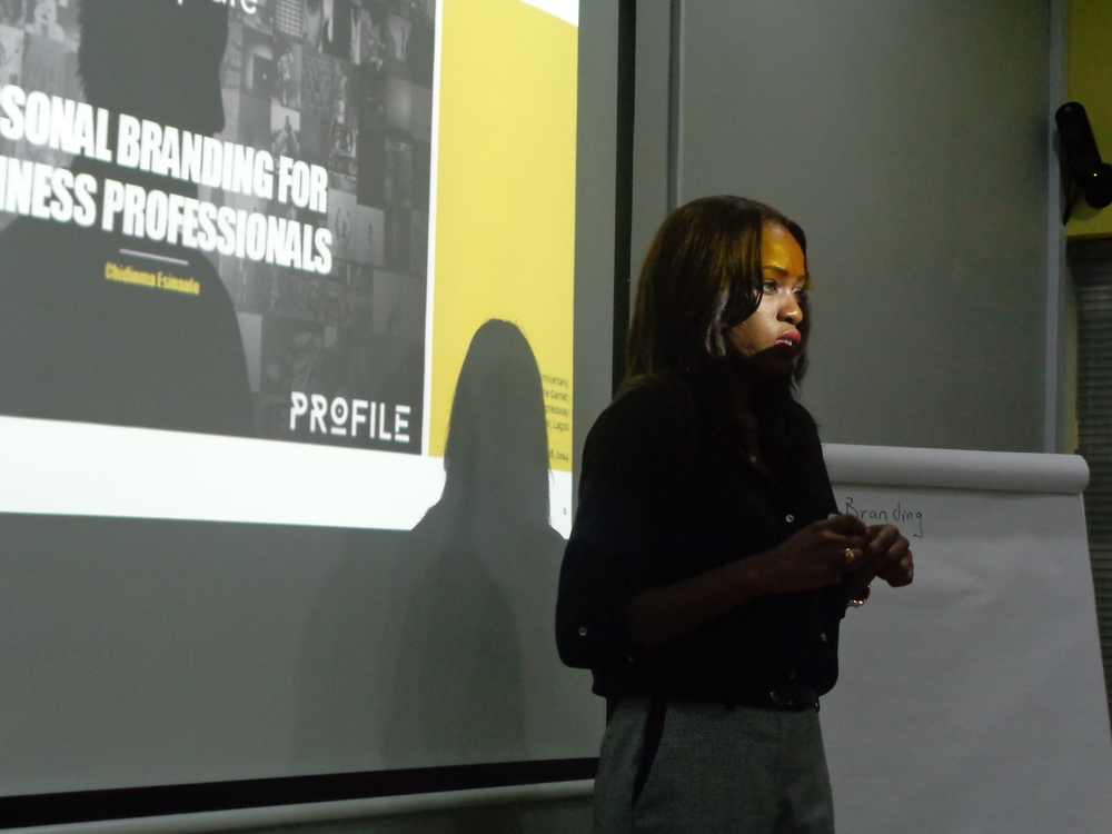 we also learn from Chidinma Esinaulo of Profile Image Consulting, who spoke on how to make your personal brand work for your business.