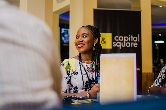 Lilian, center manager at CapitalSquare , beaming with smiles.