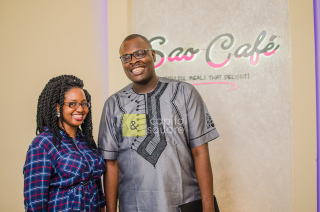 Modupe, Our founder, poses with Chude