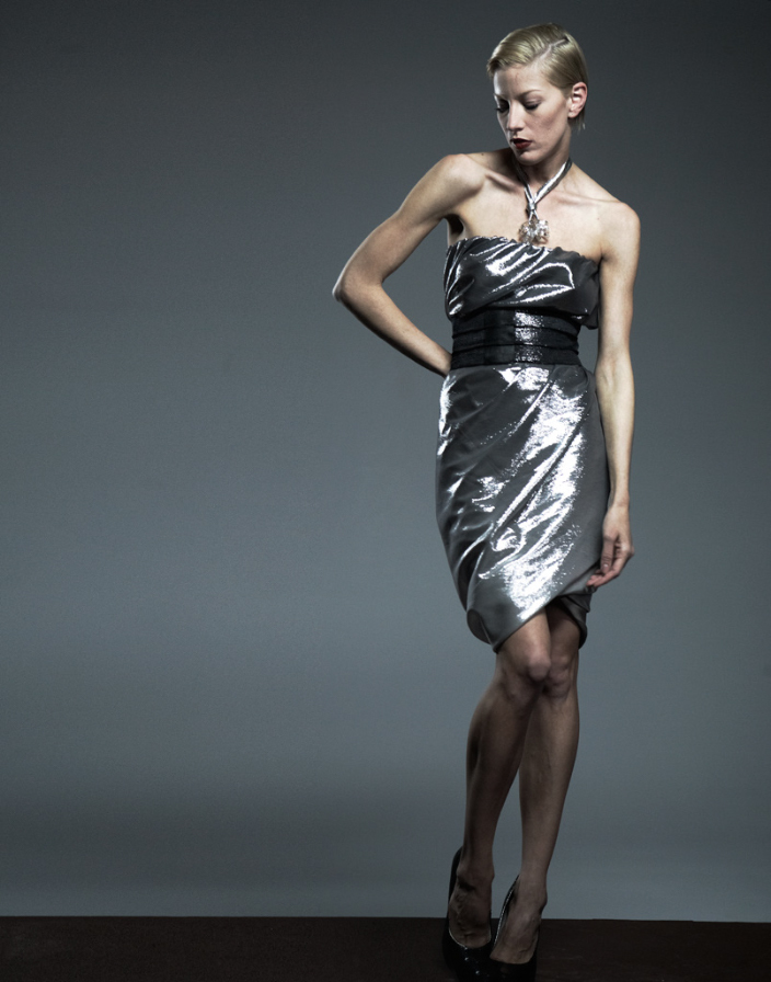 torqued tube dress metallic.jpg