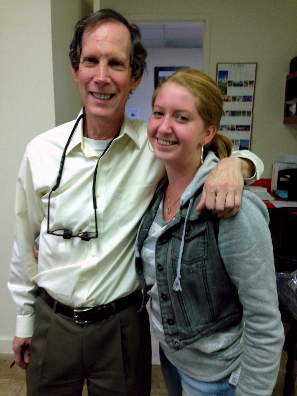 dr. halberstadt with an orthodontics patient