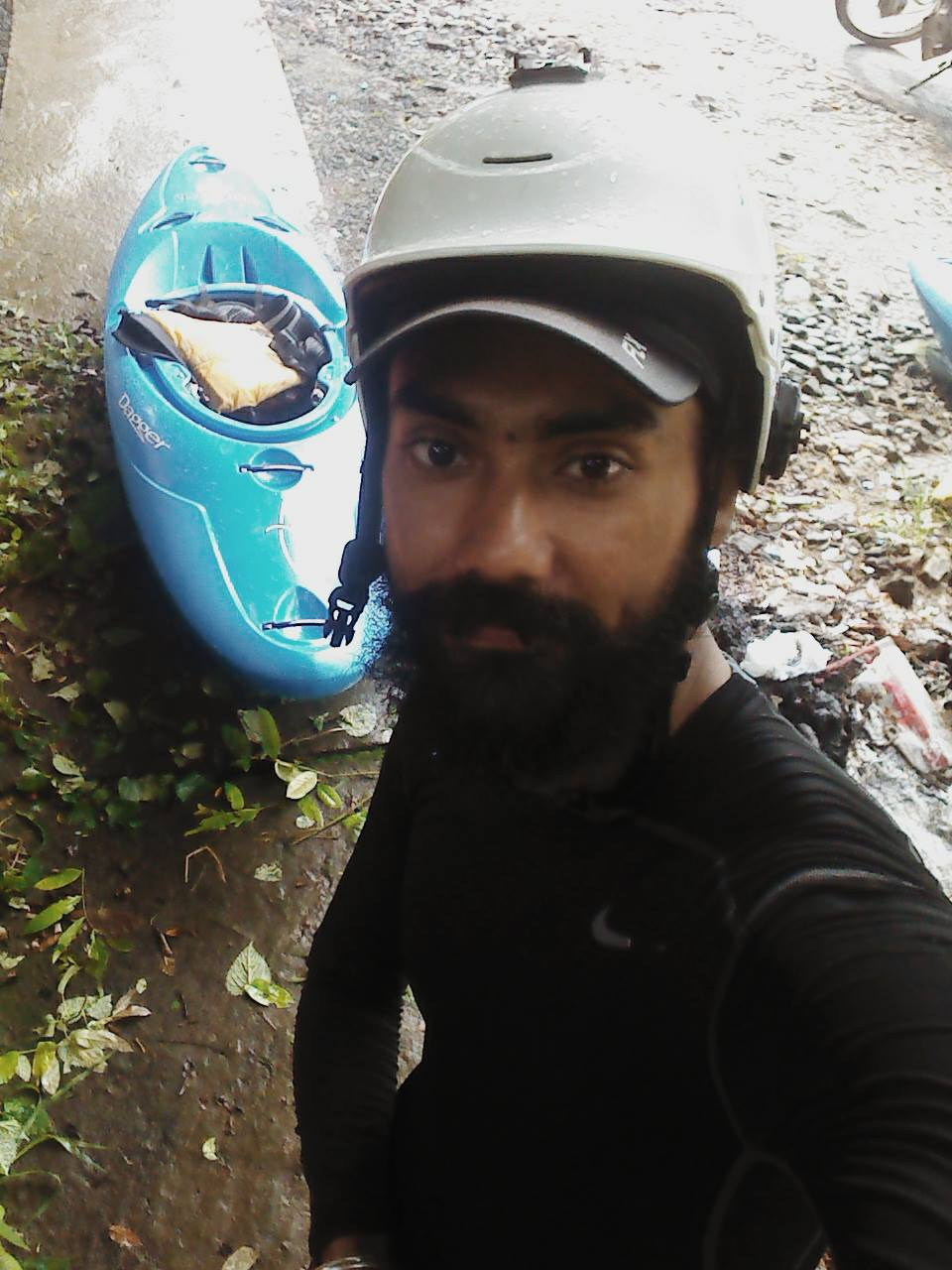 Bhavpreet with his blue Mamba!