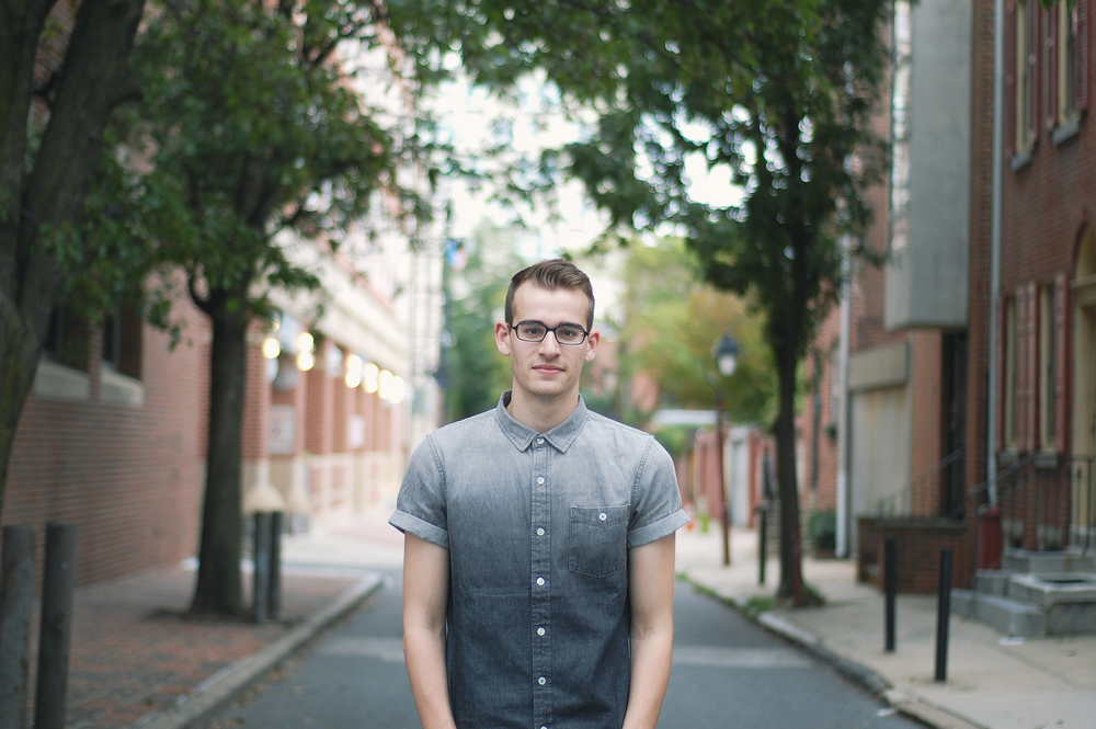 I took this photo of my boyfriend Dave when he had an eye infection and had to wear his glasses for a week, which made him not very happy to say the least but this photo was taken after we spent an entire day exploring Fishtown together.