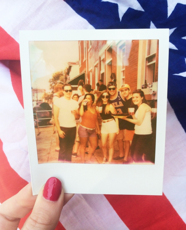 A picture of a polaroid I took on Fourth of July with some good friends.