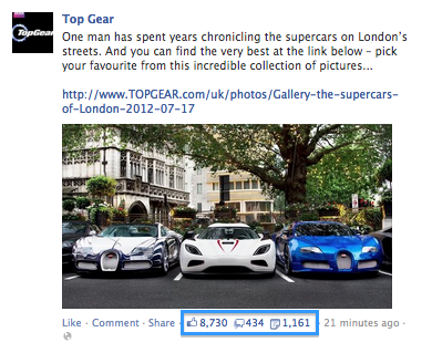 Top Gear Facebook Update