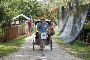 Visitors were able to ride ECHO's authentic Thai rickshaw.