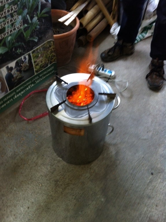 Gasifier Stove without Cooking Pot