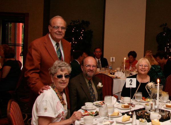 L-R Mr. and Mrs. Dick and Jo Dugger with Dr. and Mrs. Martin and Bonnie Price celebrating the Price's retirement from ECHO in 2008.