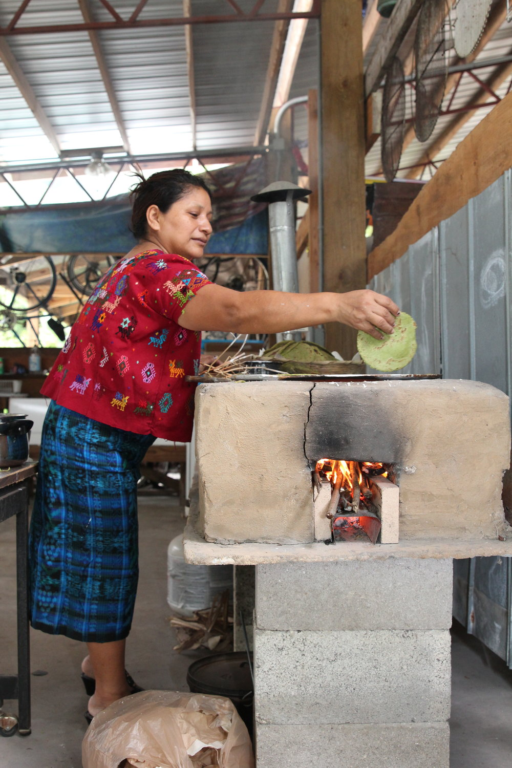 Hands-on workshops include how to make Chaya green tortillas.