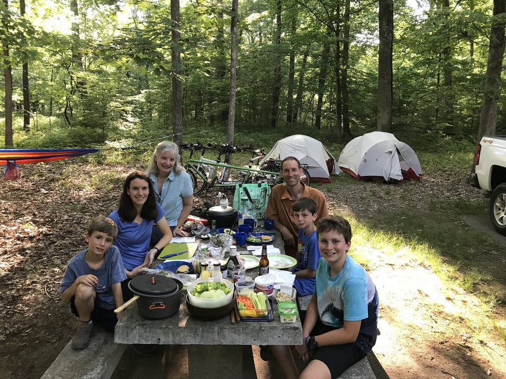 Our sweet friend Mona made the 1 1/2 to 2-hour drive from Tennessee to experience Mammoth Cave with us and she brought an amazing dinner to share with us at the campsite that evening. What a blessing! We missed that her husband John was unable to join us!