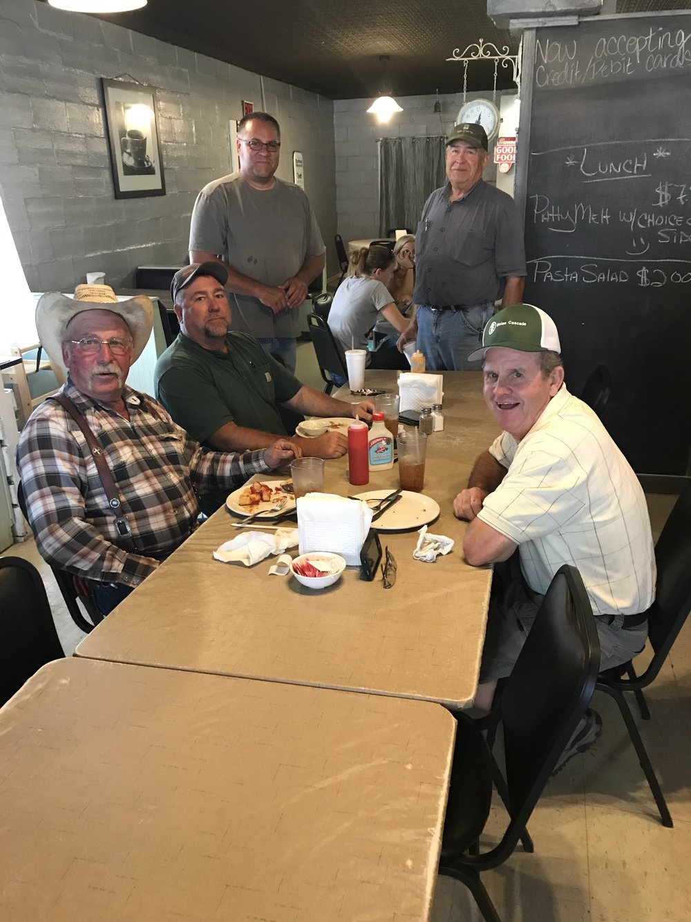 "We really enjoyed talking with this nice group of men who also happened to stop into the Ballard Grill for lunch. We were taken aback when one of them came outside as we were about to leave and handed us a $100 bill ""to use for dinner"" because they ""were inspired by us!"" How humbling to us and generous of him!"