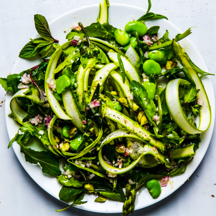 Fava Bean and Shaved-Asparagus Salad - LUNCH