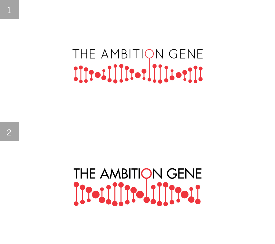 The Ambition Gene   (Logo Design)   Re-working a logo for an HSBC Pitch    1 = final logo 2= initial exploration  Role: Illustration & Design JWT/HSBC 2012