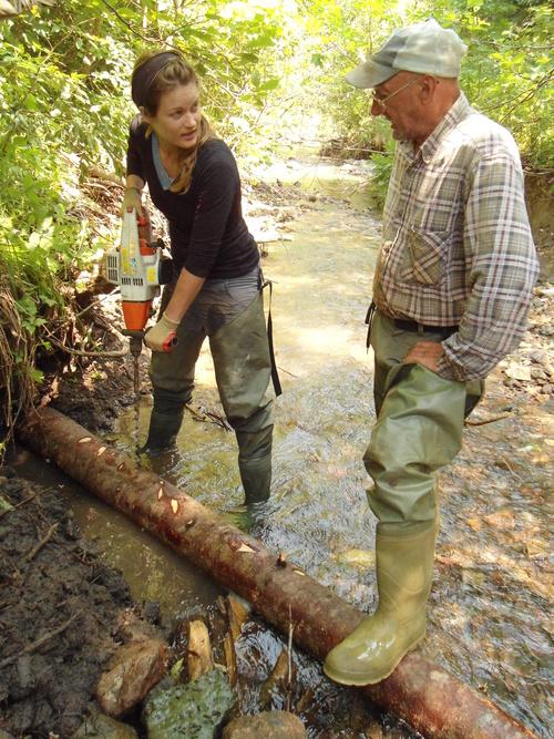 Drilling to Intall Digger Log.jpg